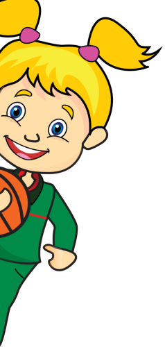 Gaelscoil Donncha Rua Student Playing Basketball Illustration